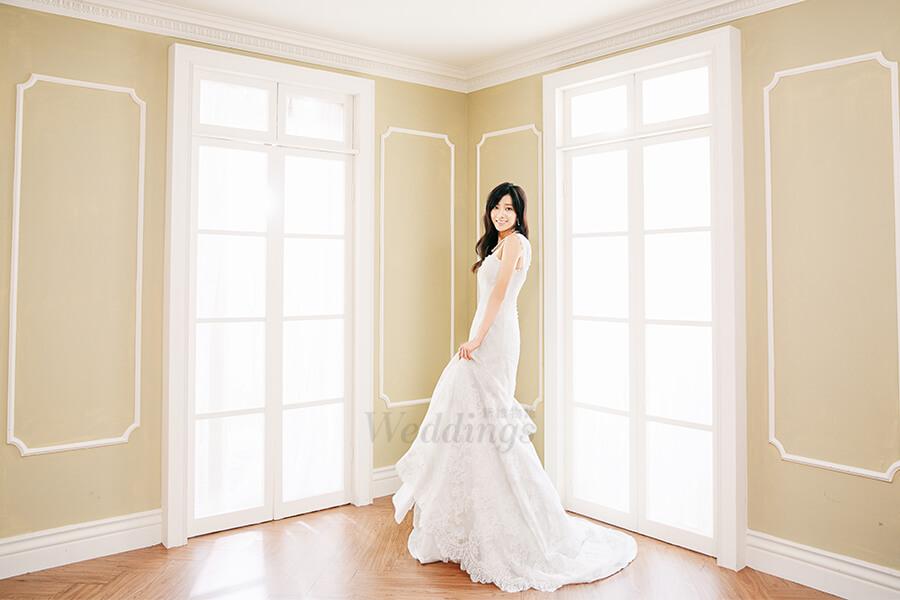 花漾女孩的時尚浪漫婚紗,蔡黃汝優雅蛻變
