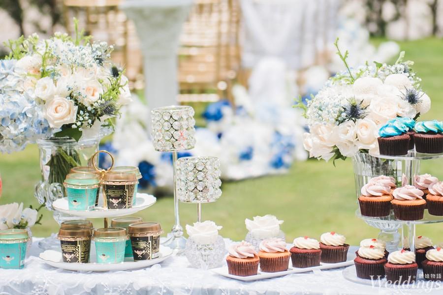 HIS&HERS義式布丁, 婚宴甜點, Candy Bar, 婚禮佈置