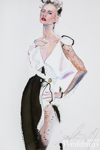 gary tu,時尚插畫家,塗至道,fashion illustration,