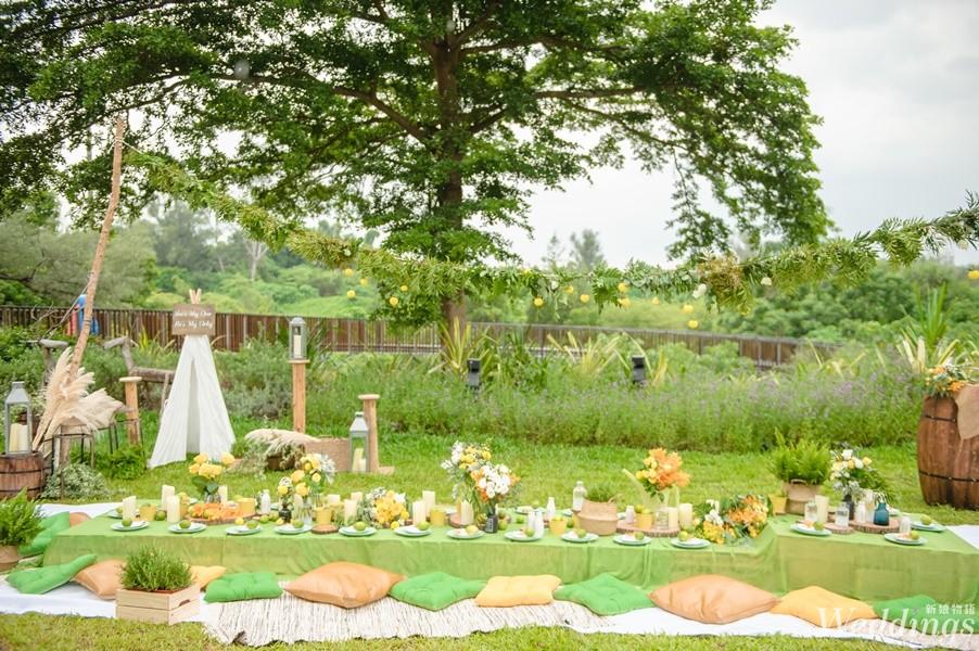 高雄圓山大飯店,湖畔莊園嘉年華,婚宴場地,戶外婚禮,西式婚禮