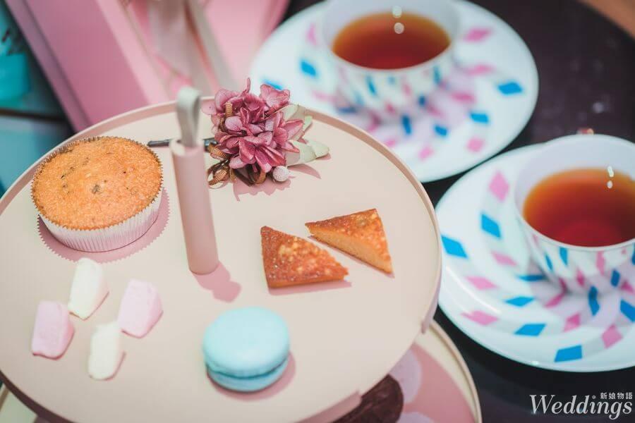 chochoco,喜餅,禮盒,試吃,手工喜餅,時尚簡約,法式甜點,乾燥玫瑰粉,薄荷綠,宮殿藍