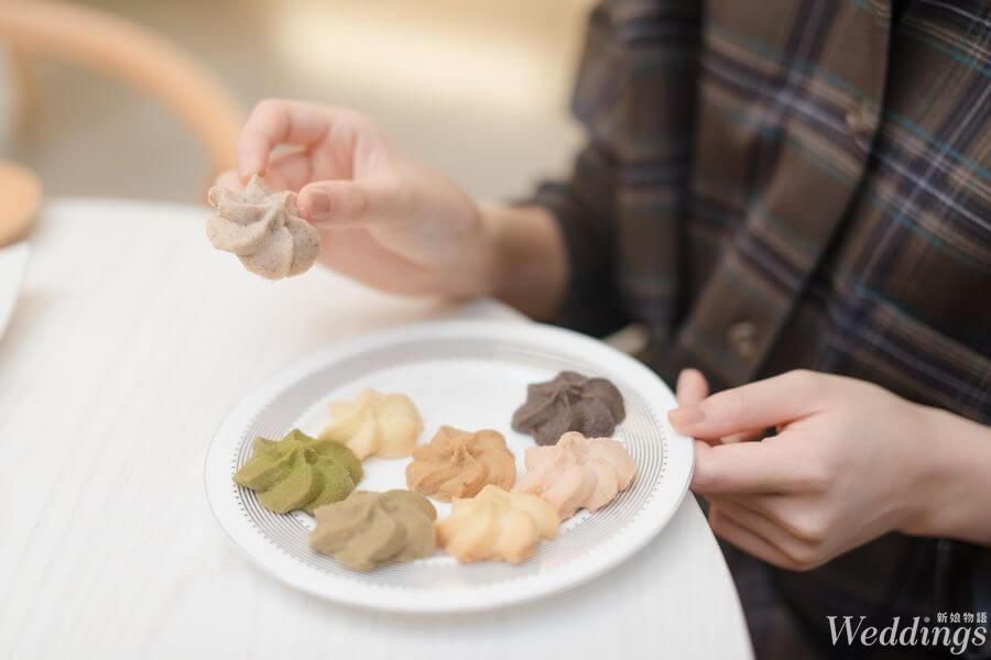 SweetsPURE,台中,喜餅,喜餅試吃,手工餅乾,新人,曲奇餅乾,禮盒,純白簡約
