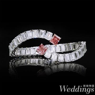 婚戒,侯佩岑,粉紅鑽,鑽石,戒指,亞立詩