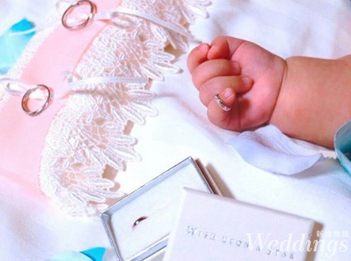 婚戒推薦|festaria TOKYO星星鑽戒,同款寶貝戒指用愛傳家