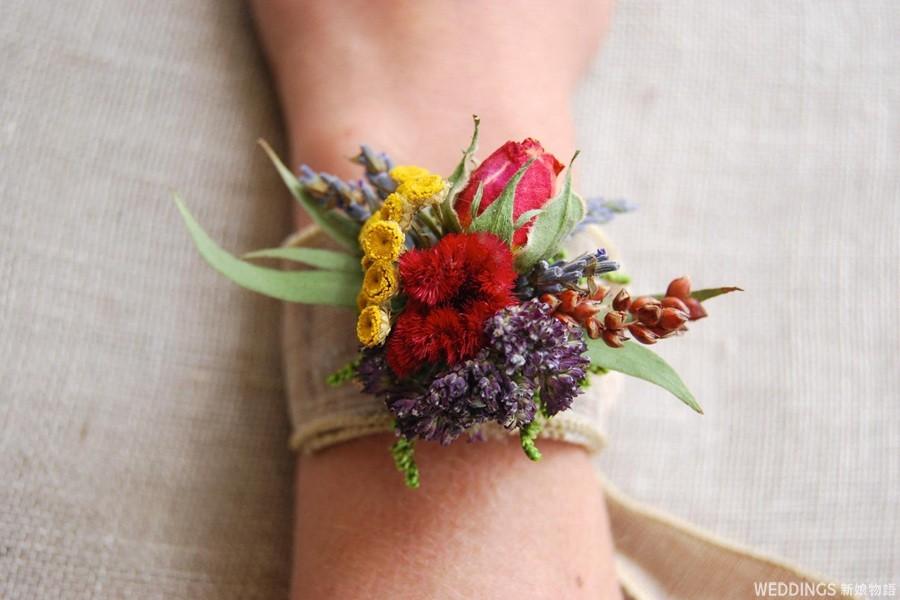 乾燥手腕花,乾燥花,乾燥手腕花推薦,新娘乾燥花手腕花,新娘手腕花,伴娘手腕花,主婚人手腕花