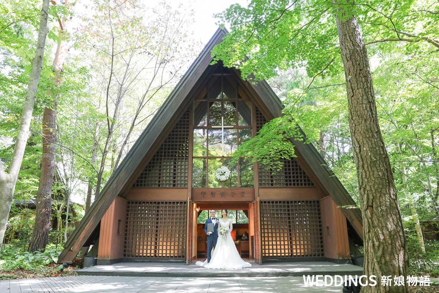 海外婚禮,輕井澤,高原教堂,湯桂禎,證婚,海外教堂,日本教堂,日本星野