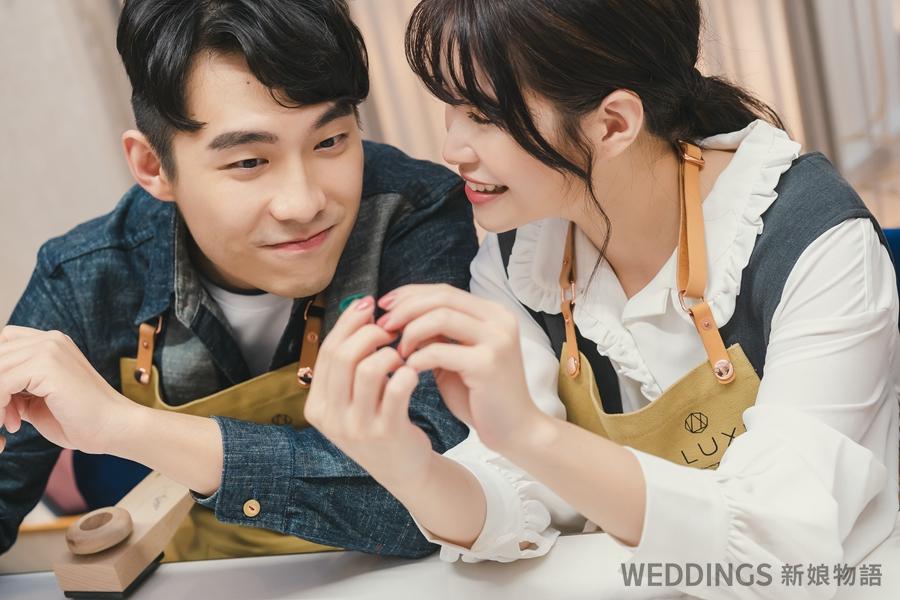 結婚戒指,鑽戒,手作婚戒,ALUXE,亞立詩,金工坊,婚紗照