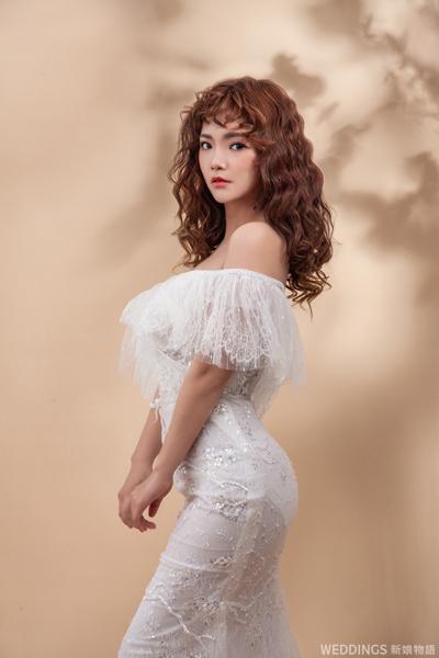 嬉皮捲,新娘造型,新娘造型推薦,新娘韓風造型,浪漫大捲,韓風造型,新秘推薦