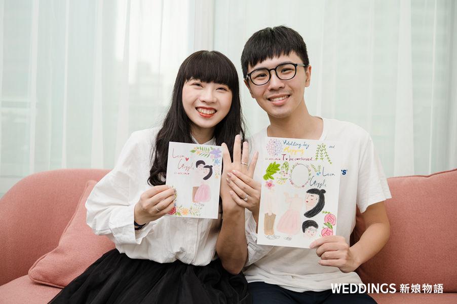 手繪喜帖,喜帖,喜帖課,喜帖推薦,婚禮共享空間,結婚,婚禮,插畫