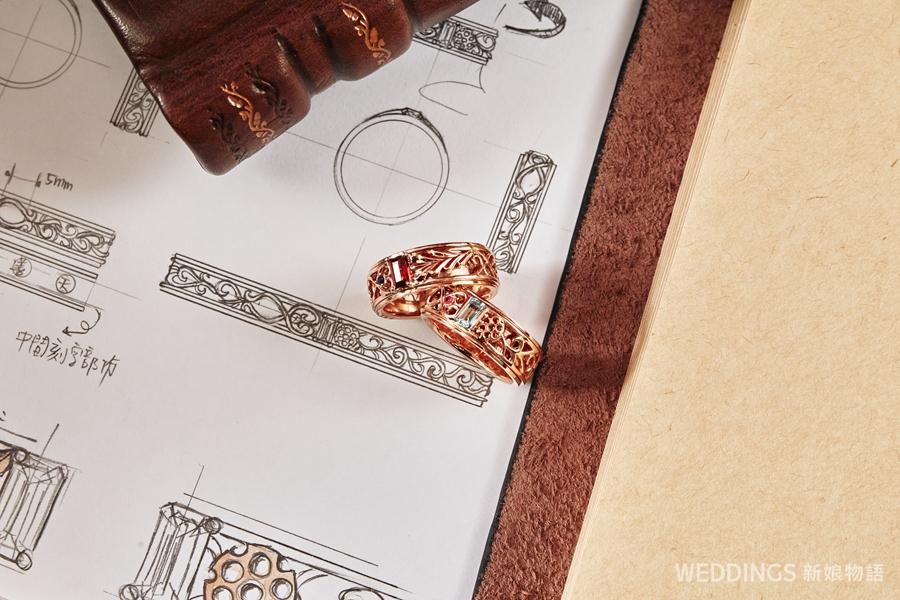 蜂蜜啤酒珠寶訂製,訂製珠寶,台中訂製,訂製婚戒,傳家珠寶