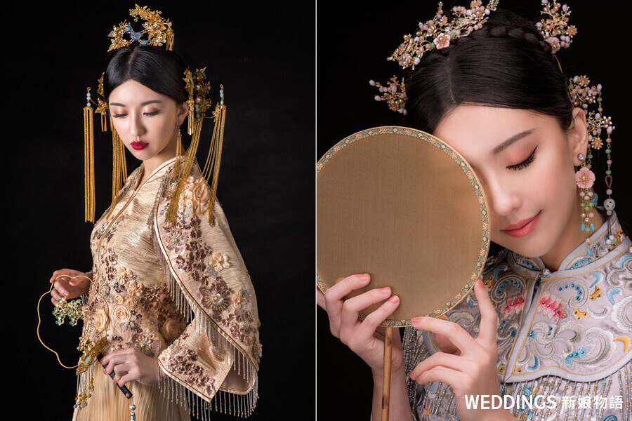 中式新娘造型,新娘秘書,短髮新娘造型,新娘髮型,新娘皇冠造型,頭紗造型,森林系新娘造型