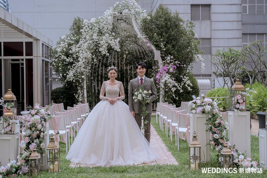 婚禮佈置,桌上禮,西式婚禮,台中林酒店,台中戶外證婚,華納婚紗
