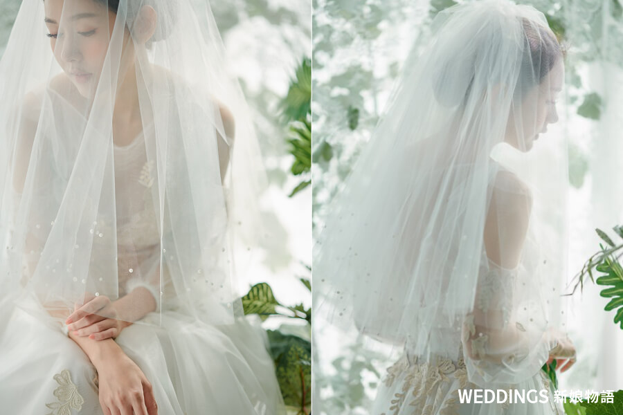 新娘髮型,婚紗髮型,白紗髮型,婚紗頭紗,頭紗造型,新娘頭紗