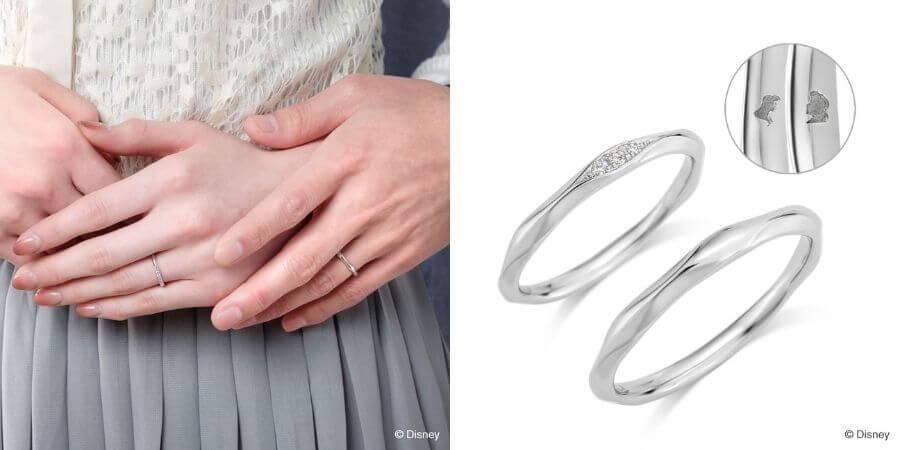 K.UNO,迪士尼婚戒,小美人魚,鑽戒,鑽石